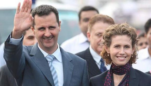 El mandatario de Siria,Bashar al Assad, y su esposaAsma al Assad.(Foto: EFE)