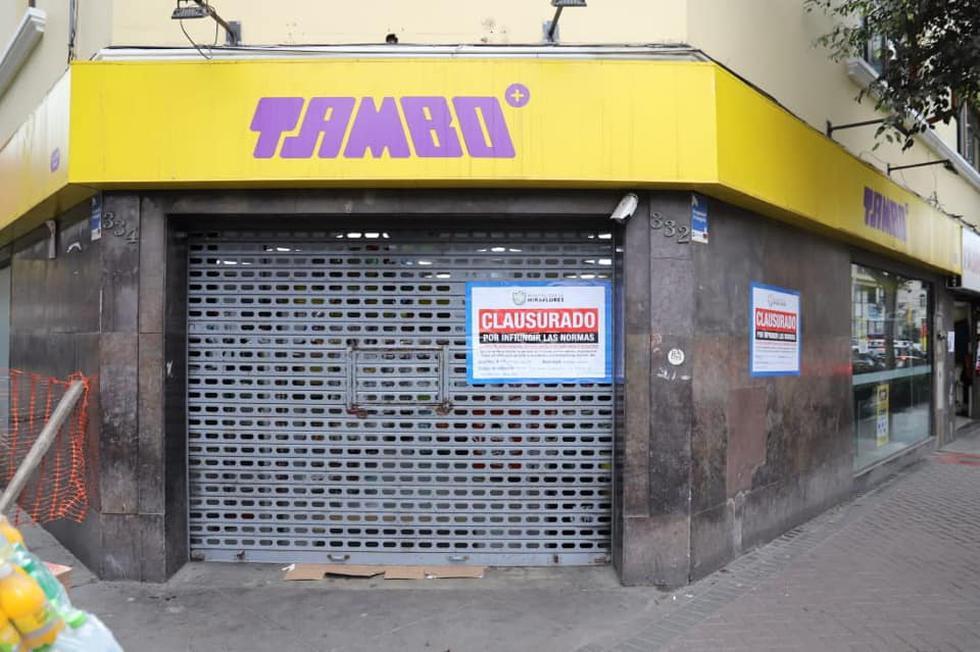 Municipalidad de Miraflores clausuró los locales de Tambo y Listo por expender productos vencidos. (Difusión)