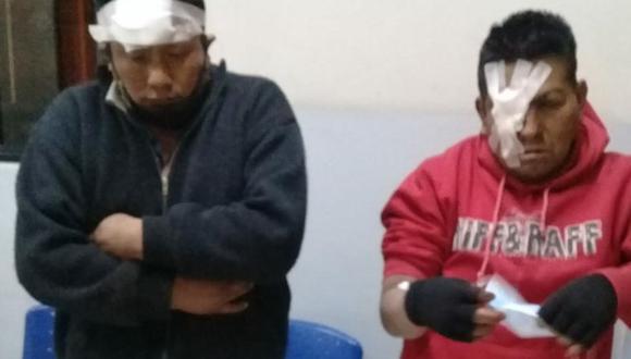 Arequipa. Estos son los delincuentes que robaron y arrastraron a mujer. (PNP)