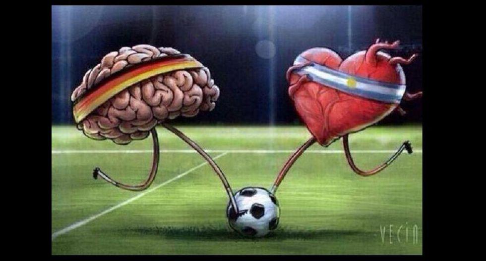 Alemania era más pensante con su juego, en cambio, Argentina mostraba que luchaba con el corazón para lograr consagrase.