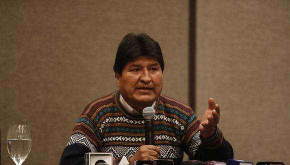 Evo Morales participó en un evento partidario de Perú Libre esta mañana en Arequipa. (Foto: Hugo Perez / @photo.gec)