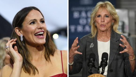 Jennifer Garner y Jill Biden estarán juntas el próximo fin de semana. (Foto: Mandel Ngan / Robyn Beck / AFP)