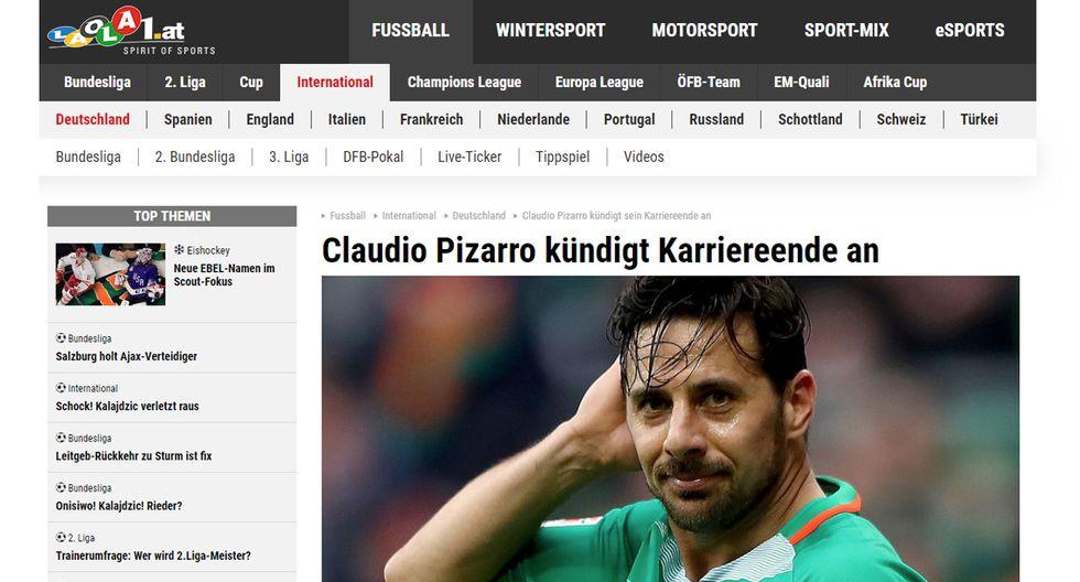 Las portadas en Alemania tras el anuncio de Claudio Pizarro.