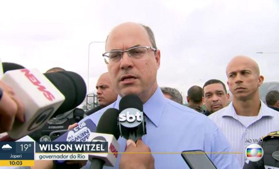 Wilson Witzel, gobernador de Río de Janeiro, confesó que dialogó con la familia del secuestrador abatido. (Foto: Captura Globo)