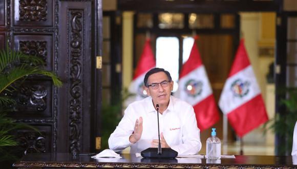 La aprobación al presidente Vizcarra ha caído tres puntos porcentuales respecto del mes de abril. (Foto: Agencia Andina)