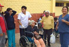 Trasladan a anciana en estado de abandono a un albergue del Inabif tras ser rescatada por la Policía