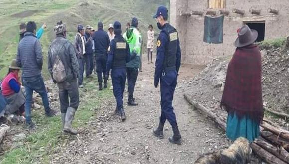 Cusco: Efectivos de la comisaría PNP Limatambo llegaron al lugar de los hechos y hallaron el cadáver de Huamán Champi. (Foto: Difusión9