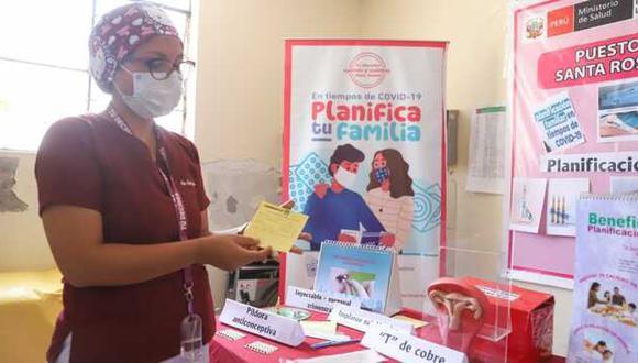 El servicio de planificación familiar no se detuvo a pesar de la pandemia por la COVID-19 y aseguró la provisión de los métodos anticonceptivos a las parejas. (Foto: Minsa)
