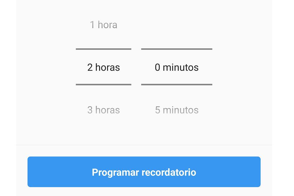 Incluso puedes poner una determinada hora para que la aplicación te pase la voz y no te excedas. (Foto: Captura)