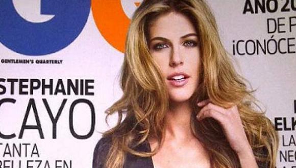 Stephanie Cayo se muestra sensual en la sesión fotográfica. (Revista GQ)