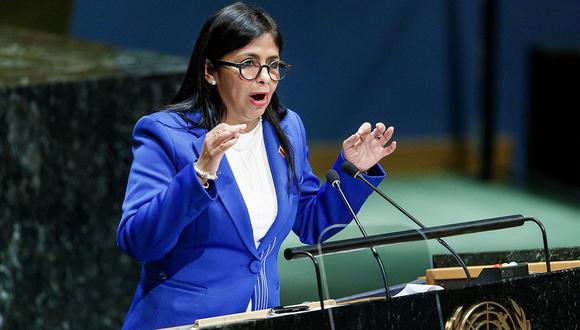 La vicepresidenta de Venezuela, Delcy Rodríguez, durante la 74a sesión de la Asamblea General de las Naciones Unidas en Nueva York. (Foto: EFE)