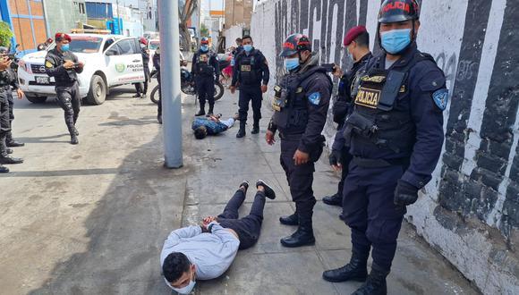 Presuntos sicarios cayeron en medio de una balacera.