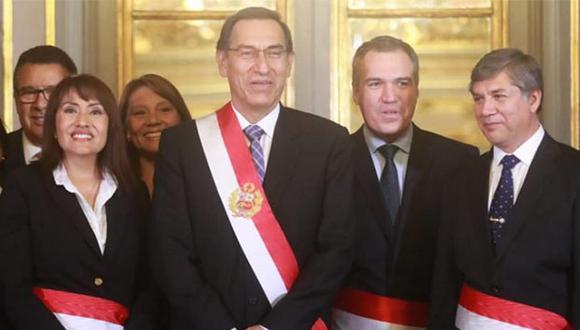 María Jara y Miguel Estrada juraron como nuevos ministros de Trabajo y Vivienda, respectivamente. (Foto: GEC)