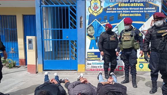 Los delincuentes cayeron tras una persecución luego de cometer su último atraco. (Foto: PNP)