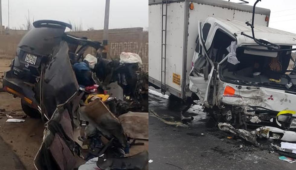 Un aparatoso accidente ocurrió esta mañana en la vía de Evitamiento a la altura del Ovalo Huanchaco, en Trujillo (Foto: Facebook / Tiempo Informativo)