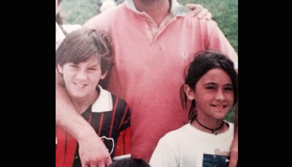 Antonella Roccuzzo y Lionel Messi se conocieron cuando eran niños en su ciudad natal, Rosario, en Argentina  (Instagram)