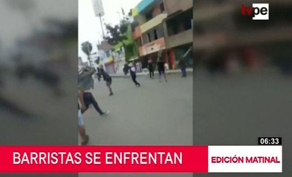 Los disturbios ocurrieron la tarde del domingo en el cruce de las avenidas La Chalaca con Faucett. (Captura: TV Perú Noticias)
