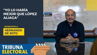Hernando de Soto candidato presidencial de Avanza País