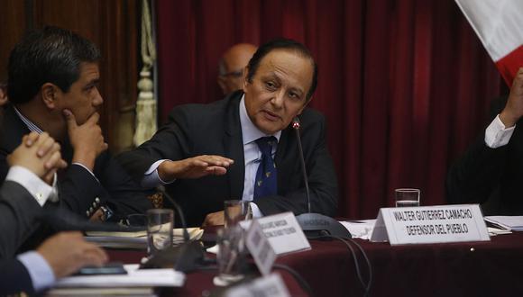 """El defensor del Pueblo calificó de """"gravísimo"""" que Perú no cuente con un abogado en el proceso de extradición a Alejandro Toledo. (Foto: GEC)"""