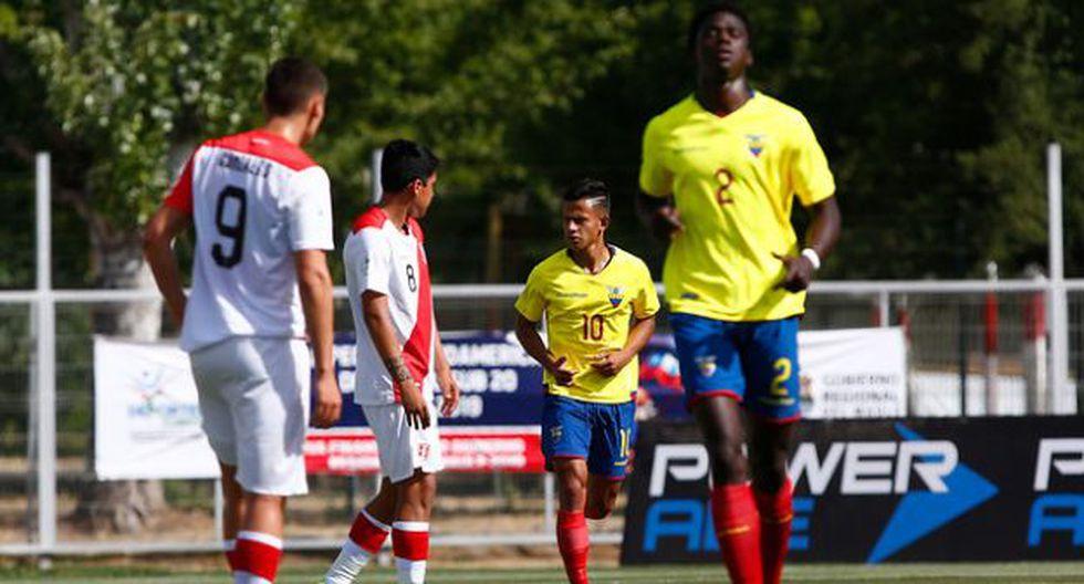 Perú y Ecuador se miden por la fecha 4 del Sudamericano Sub 20. (Foto: Photosport)