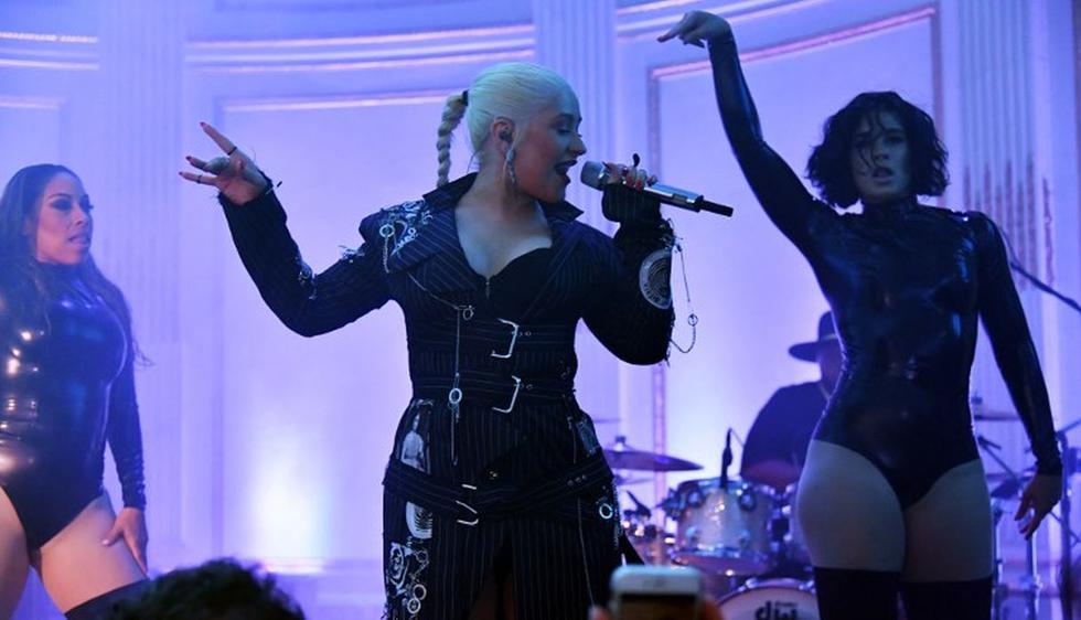 La cantante estadounidense fue testigo del emotivo momento. (Foto: AFP)