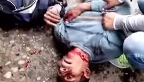 Huancayo: Ladrón hace un show para evitar que lo capturen