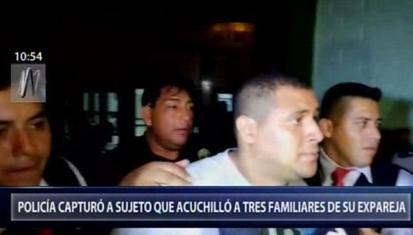 El acusado estaba con calidad de prófugo, pero tras un arduo trabajo de los agentes, se logró su captura. (Foto: Canal N)