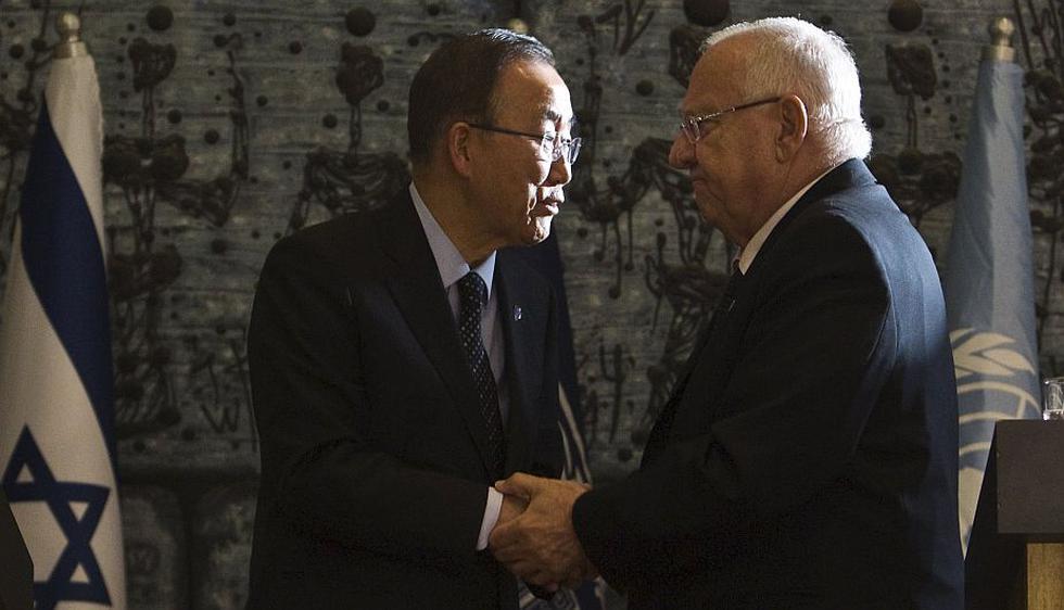 Ban Ki-moon viajó a Israel y Territorios Palestinos para tratar de frenar la violencia. (Reuters)