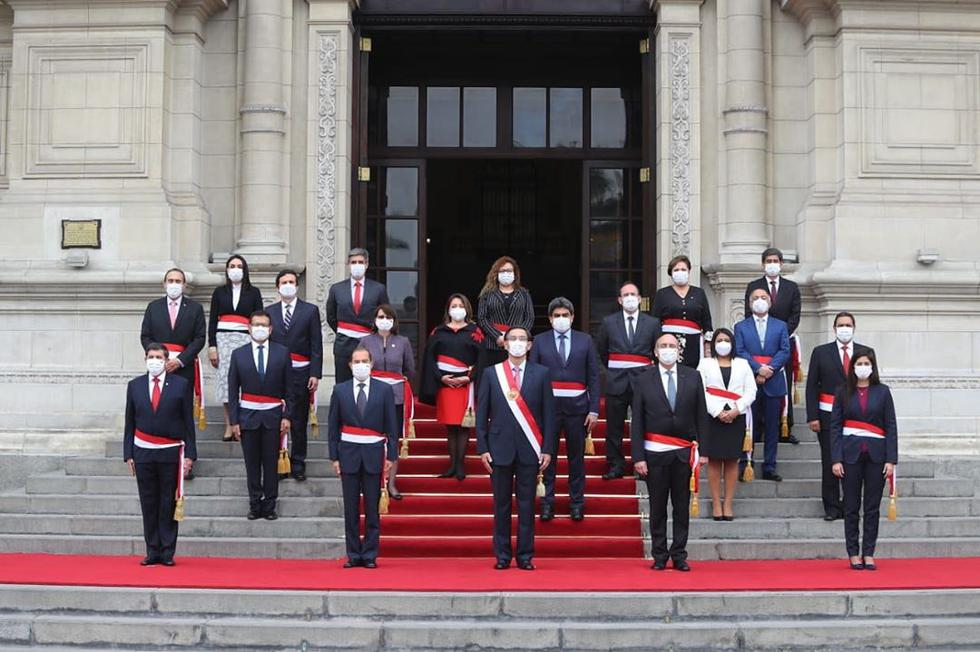 Gabinete Martos. Fuente: IG Presidencia Perú