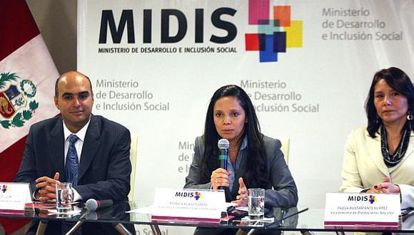 La ministra de Desarrollo e Inclusión Social, Mónica Rubio, ofreció una conferencia de prensa. (Andina)