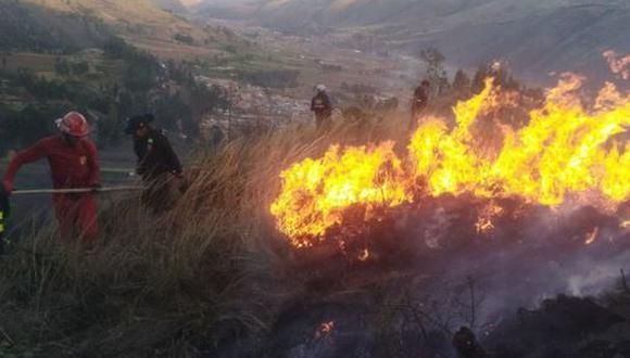 Los incendios no solo devoraron pastizales y pajonales, sino también campos de cultivos. (Foto: Andina)