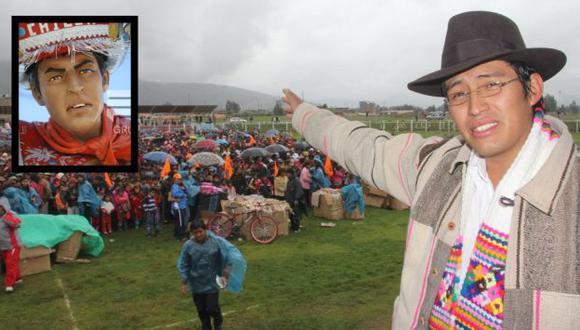 ¿CASUALIDAD?. La imagen tiene las mismas facciones del rostro del alcalde Abraham Carrasco. (Difusión)