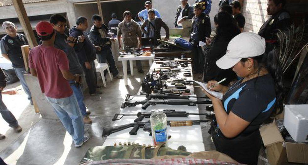 ARMAS DE GUERRA. Se investiga la procedencia de lo incautado. (Rolando Ángeles/USI)
