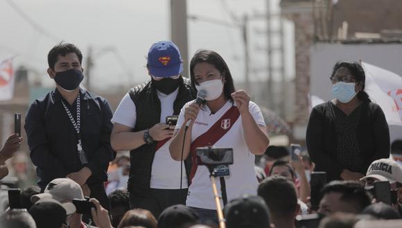 La candidata Keiko Fujimori se reunirá con dirigentes y excandidatos del PPC este viernes. (Foto: Leandro Britto / @photo.gec)