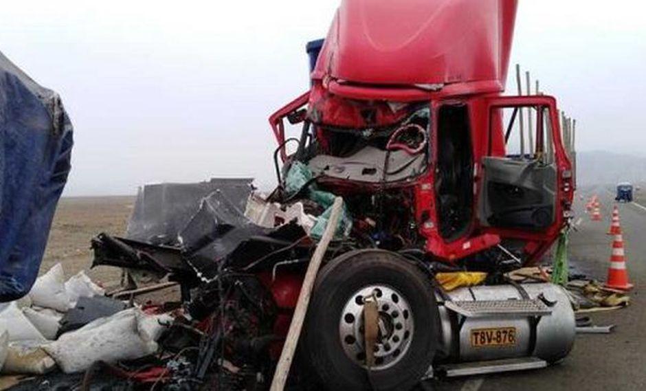 El conductor del tráiler falleció de manera instantánea. (Foto: Andina)