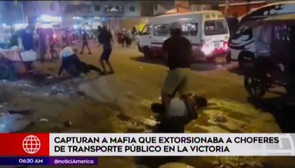 PNP captura a tres sujetos acusados de extorsionar a choferes de transporte público. (Captura: América Noticias)