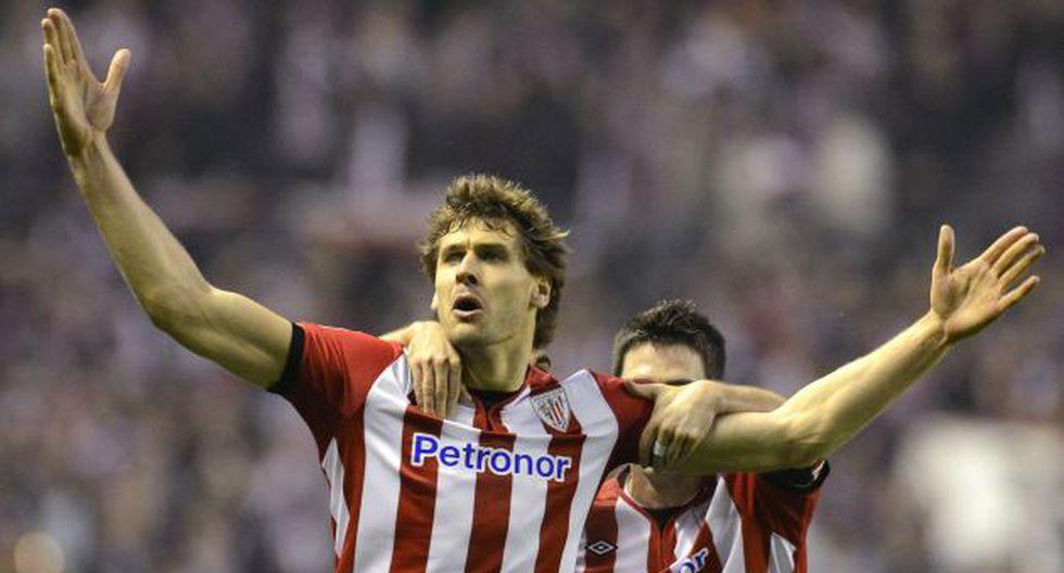 CRACK. Llorente celebra el tercero, el gol de la clasificación. (Reuters)