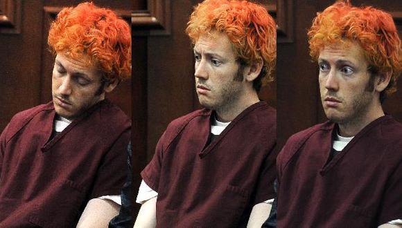 Tres expresiones constantes de James Holmes ante la corte. (AP)