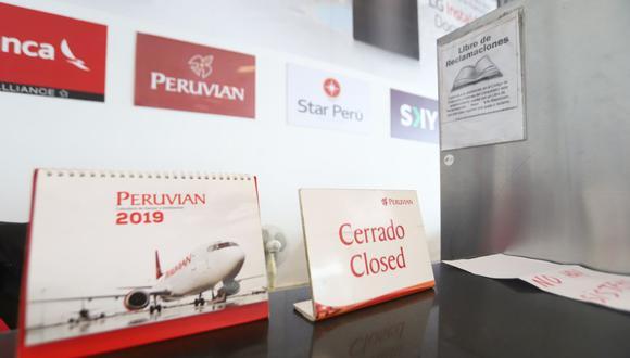 La empresa ya no tendrá permisos para realizar tanto el transporte regular como no regular de pasajeros, carga y correo en el ámbito nacional e internacional. (Foto: Eduardo Cavero / GEC)
