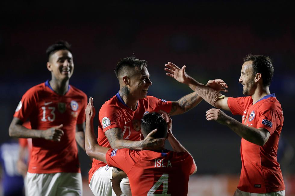 Chile goleó 4-0 a Japón por el Grupo C de Copa América 2019. (EFE)