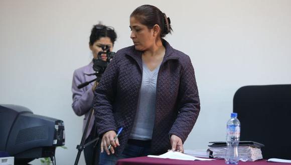 Su primera condena. Escuchó su sentencia en el penal donde se encuentra internada. (Martín Pauca)