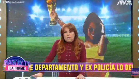 """Magaly Medina sobre la relación de Shirley Arica y Jean Deza: """"Desde anoche está exhibiendo la 'Copa Deza'"""". (Foto: Captura de video)"""