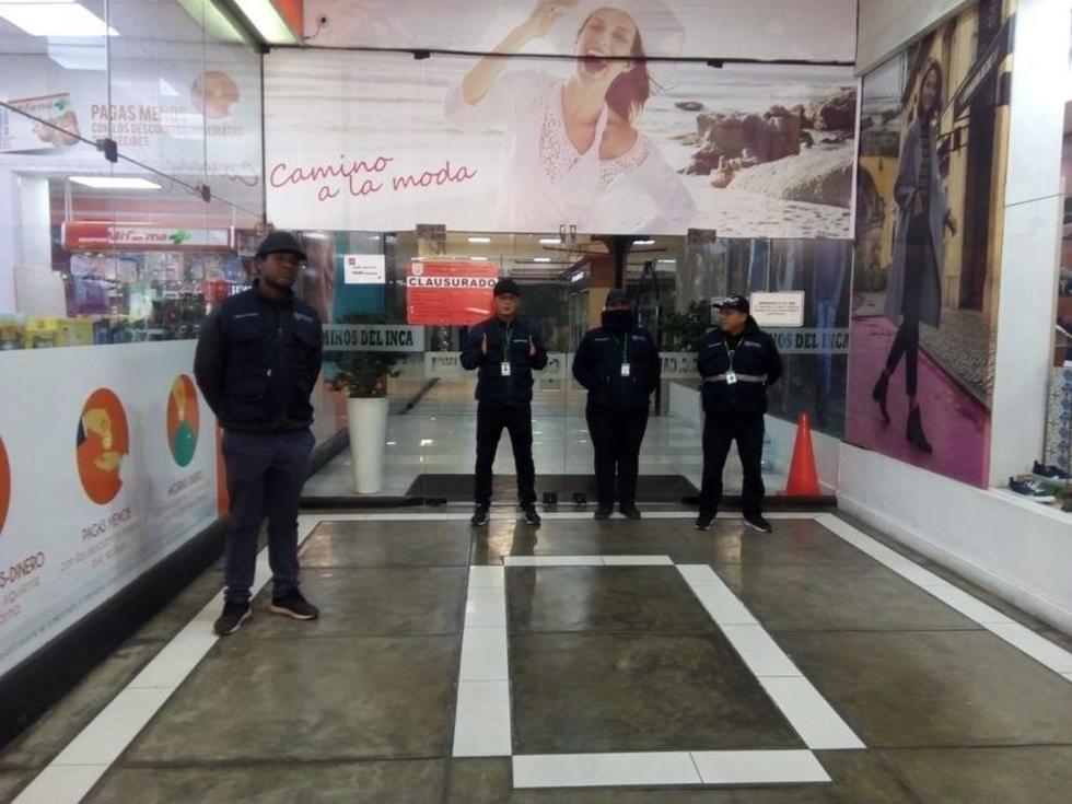 El primer piso del centro comercial Caminos del Inca fue clausurado por la Municipalidad de Surco. (Foto: Municipalidad de Surco)