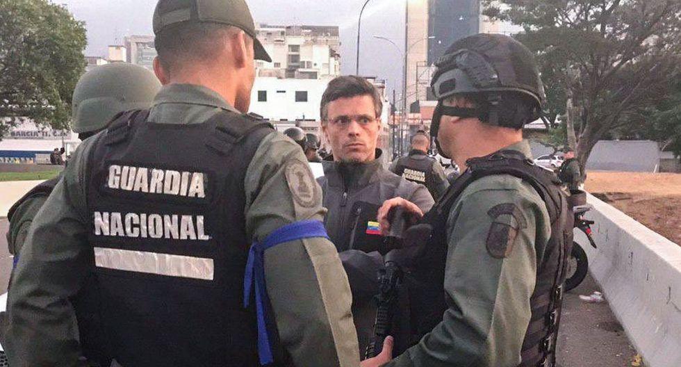 López participó con Guaidó en un levantamiento militar junto a cerca de 40 militares en Venezuela. (Foto: AFP)