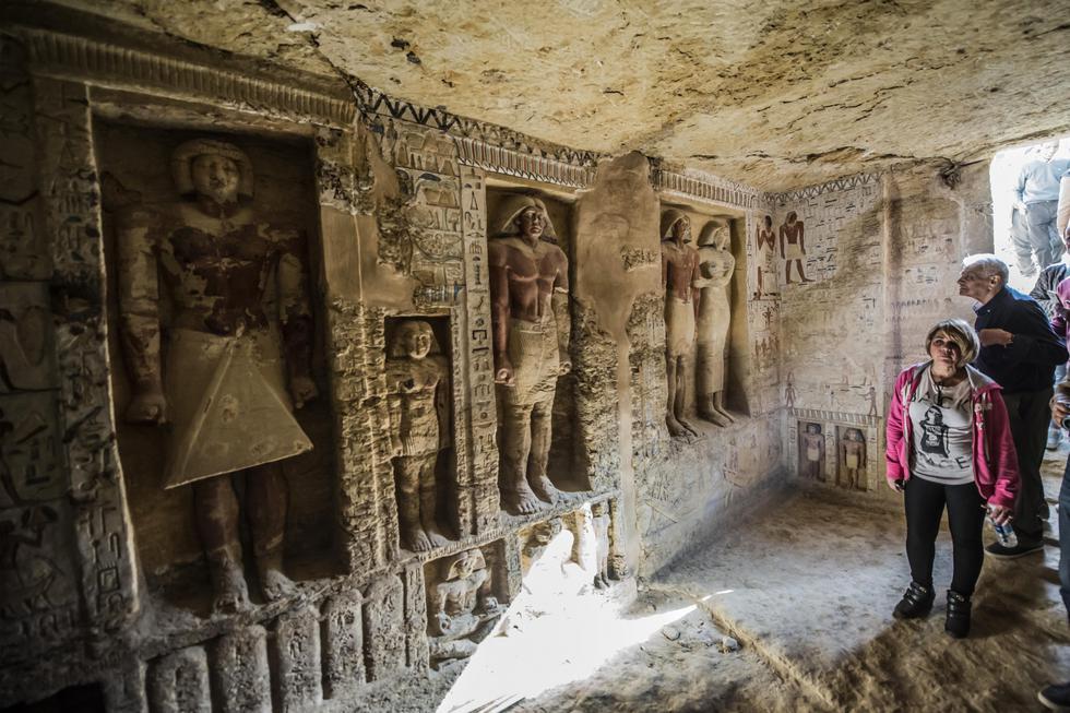 Egipto: Hallan tumba intacta de más de 4 mil años de antigüedad. (AFP)