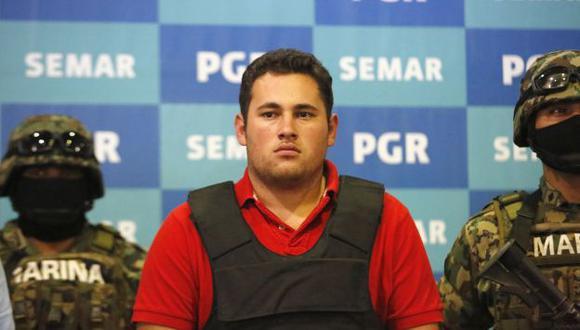 El joven fue presentado ayer como narcotraficante. (Reuters)