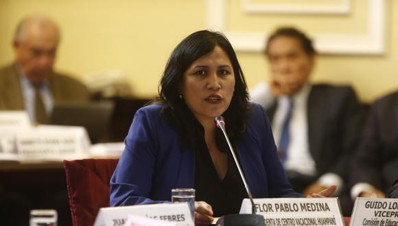 Flor Pablo, ministra de Educación. (Foto: GEC)