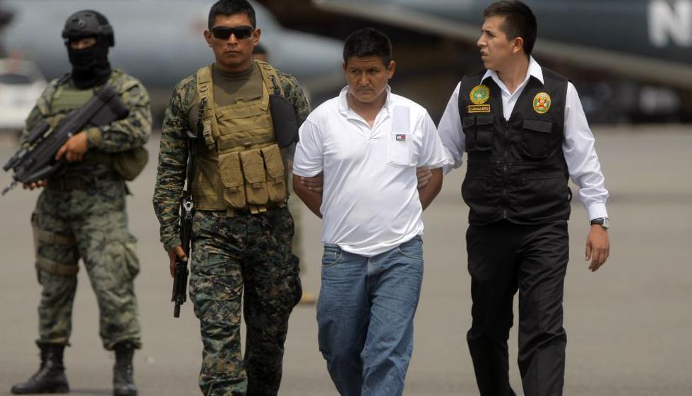 Los integrantes de Sendero Luminoso llegaron a Lima bajo extremas medidas de seguridad. (David Vexelman/Perú21)