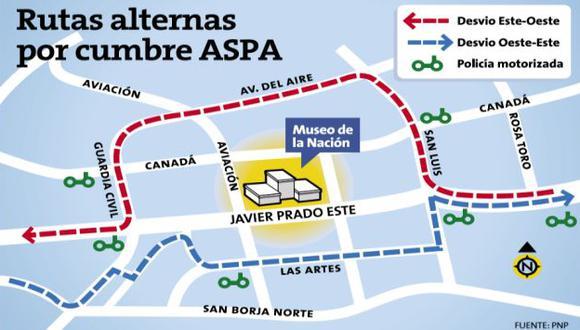 Conoce las calles que estarán cerradas por la Cumbre ASPA.