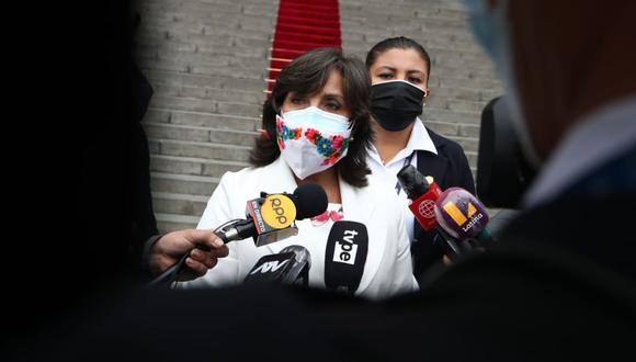 Dina Boluarte aseguró que no es momento de generar zozobra en la población .(Foto: GEC)